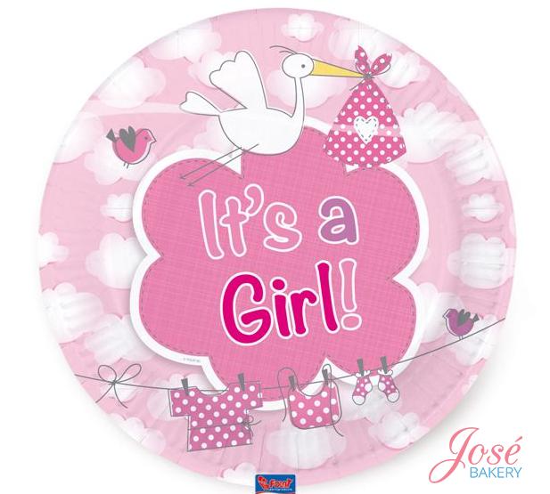geboorte borden meisje It's a girl Jose bakery