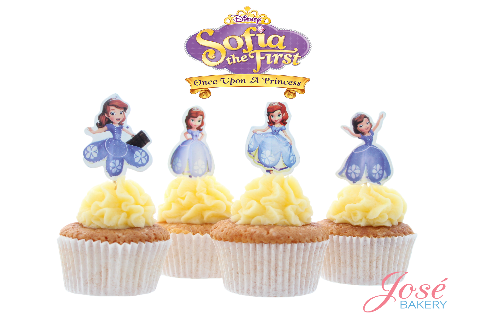 Prinses Sofia cupcake toppers Jose bakery