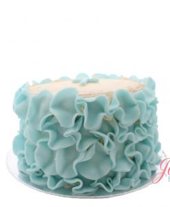 Ruffle taart blauw Jose bakery