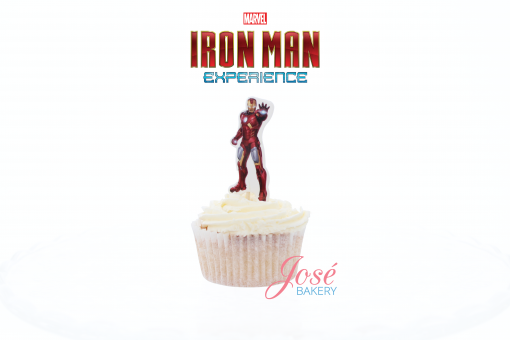 Iron Man cupcake toppers Jose bakery