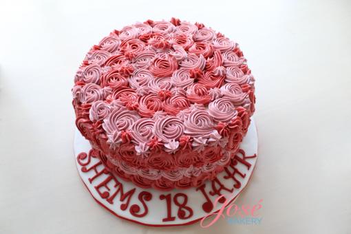Rozet taart Shems Jose bakery