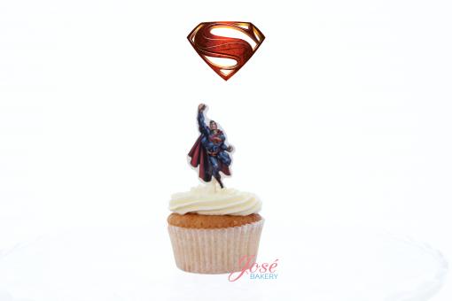 Superman cupcake toppers Jose bakery