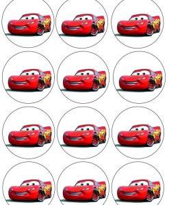 Cars cupcake prints 12 stuks