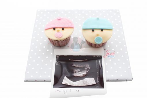 Gender reveal cupcakes incl foto 2