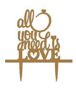 All you need is love taarttopper