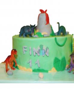 Dinosaurus taart 12 p incl dinosaurus figuren