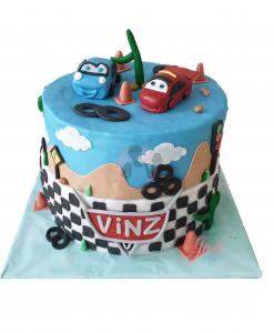 Cars taart 25 personen