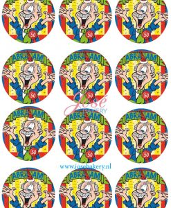 Abraham cupcake prints 12 stuks