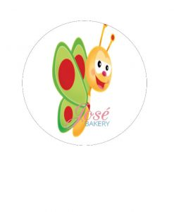 BabyTV eetbare taart print 15 cm
