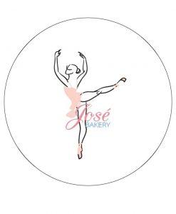 Ballerina taart print 20 cm
