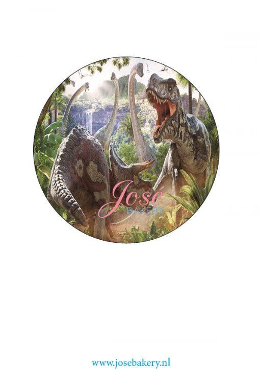 Dinosaurus taart print 15 cm