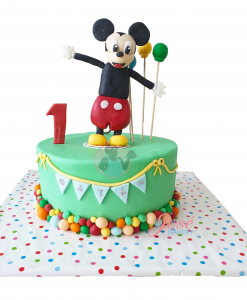 Mickey Mouse eerste verjaardagstaart 9 personen