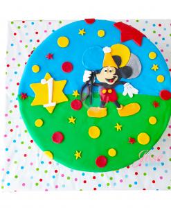 Mickey Mouse taart 10 personen