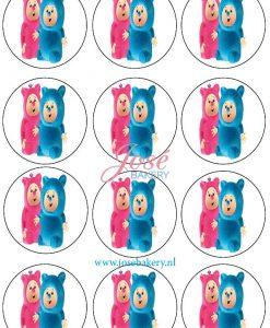 Billy & Bambam cupcake prints 12 stuks