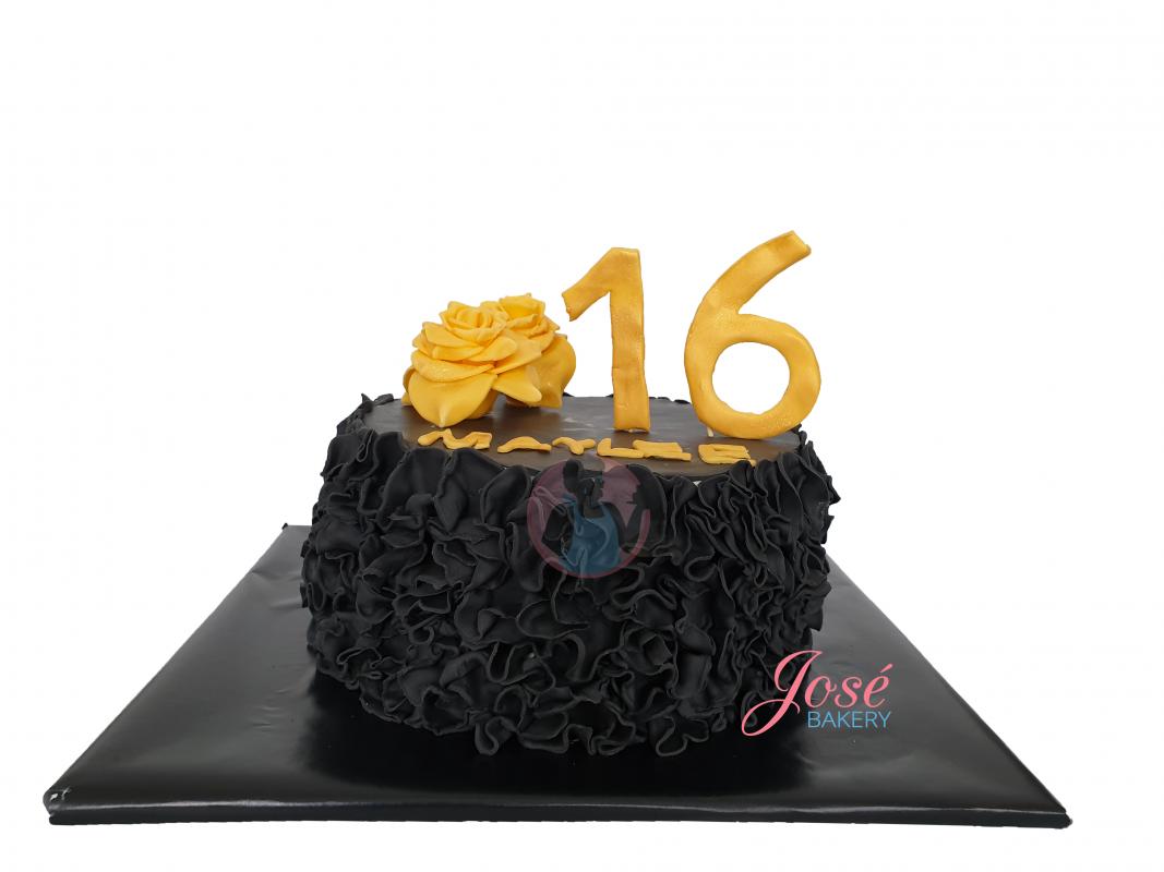 Onwijs Sweet 16 taart ruffles 8 personen bestellen | Jose bakery OD-98